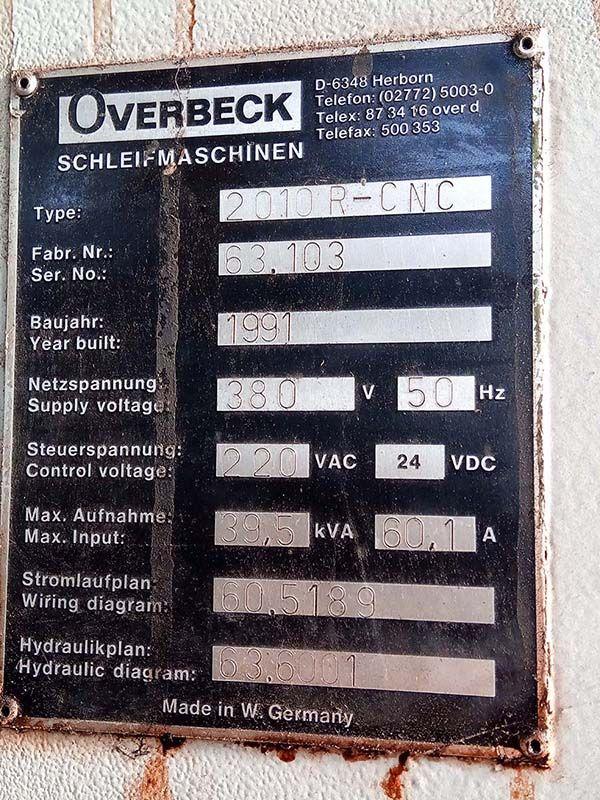 OVERBECK 2010 R-CNC Cylindrical Grinder