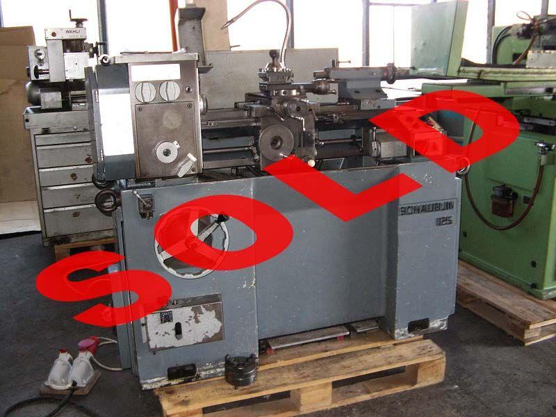 High precision lathe SCHAUBLIN 125 C